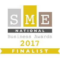 "National Finalist ""Business of the Year less than 50 Employees"" Sep 2017 – SME National Business Awards"