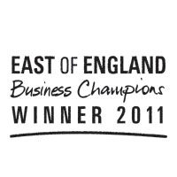 """Overall Winner East of England Business Champions Award"" Oct 2011 – East of England Business Champions Award"
