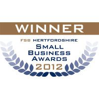 "Winner ""St Albans Small Business of the Year"" June 2012 – Hertfordshire FSB Awards"