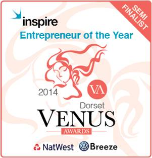 "Semi Finalist ""Entrepreneur Of The Year"" Oct 2014 – Dorset Venus Awards"
