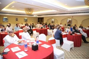 delegates at launch seminar, Muscat