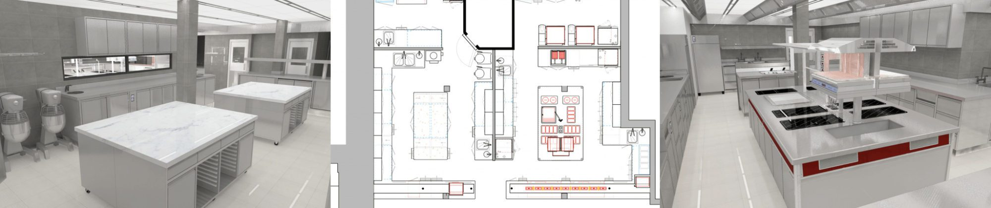 TAG AutoCAD and 3D Commercial Kitchen Designs