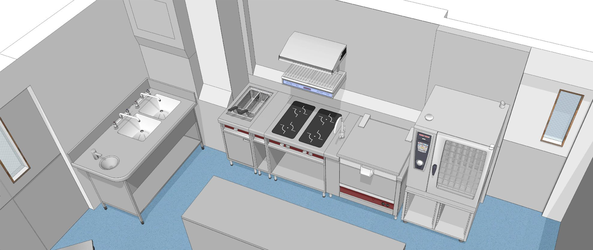 Ergonomic Flow | Small Commercial Kitchen Design