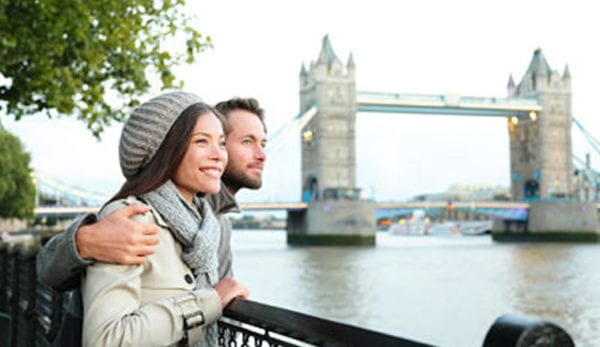A romantic day out in London