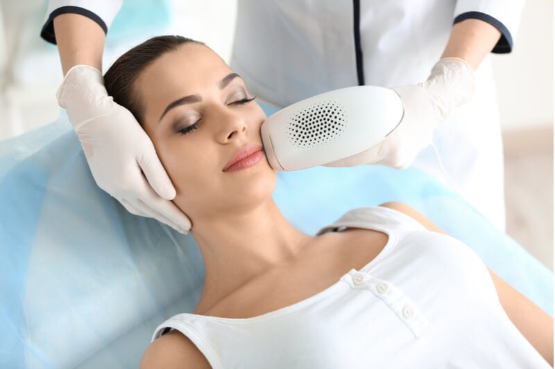 laser hair removal treatment to face