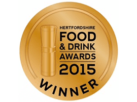 Hertfordshire Food and Drink Awards Winner 2015