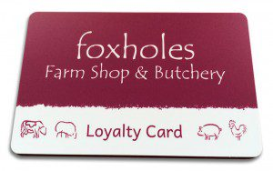 Foxholes Loyalty Card
